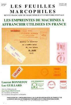 Les empreintes de machine à affranchir utilisées en France